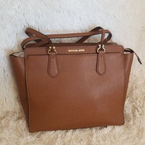 NWT MICHAEL KORS Leather Large Convertible Tote